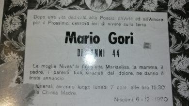 Photo of Trovati manoscritti di Mario Gori, a 49 anni dalla morte